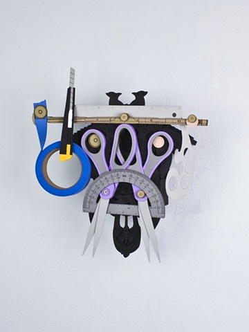 Golem #40; cuckoo clock with tools