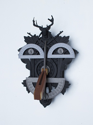 Golem #13; cuckoo clock with tools