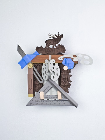 Golem #55; cuckoo clock with tools