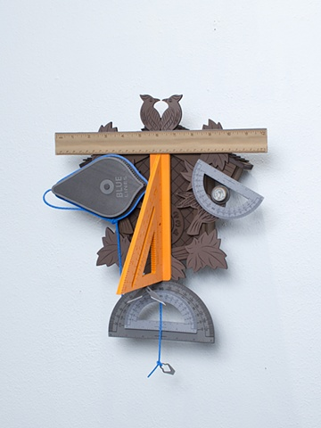 Golem #5; cuckoo clock with tools