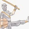 ninja vs robot!