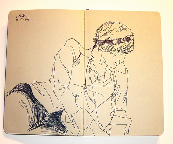 Sketchbook with Leisha