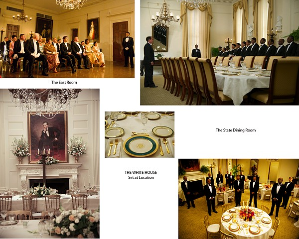 The East Room and State Dining Room