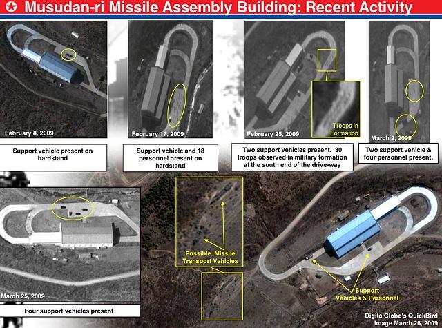 NK rocket launch sites