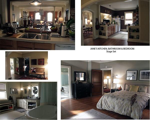 Jane's Kitchen, Bedroom, Bathroom Composite