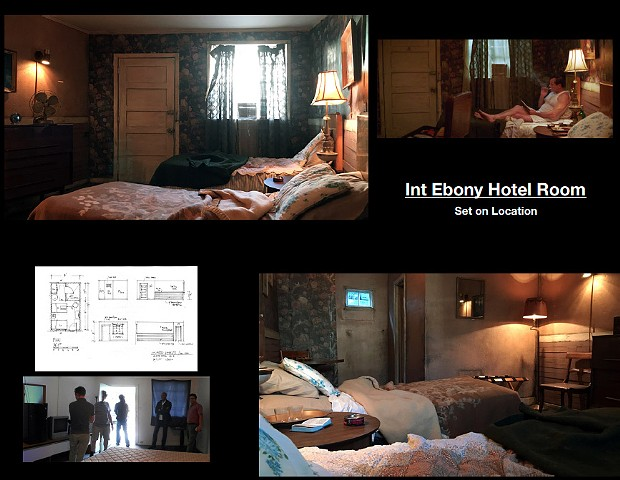 Ebony Motel Room