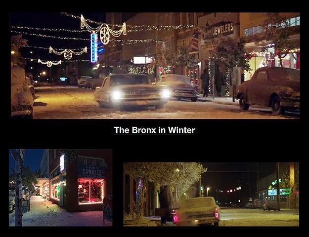 Bronx Street at Christmas