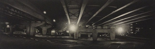 Under I-81, Facing North