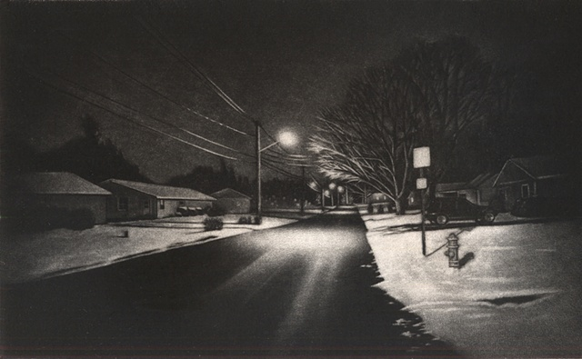 Untitled (Thurber St. Nocturne, Winter)