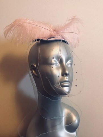 Italian leather fascinator, Italian skins