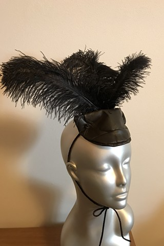 Veranda Couture, Italian Skins, Italian Leather Fascinator