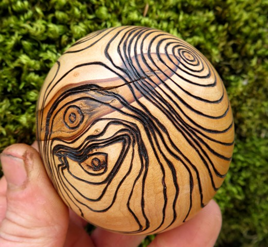abstract wood hawthorn sculpture art