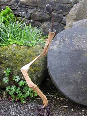 abstract wood hawthorn sculpture art sword mythology