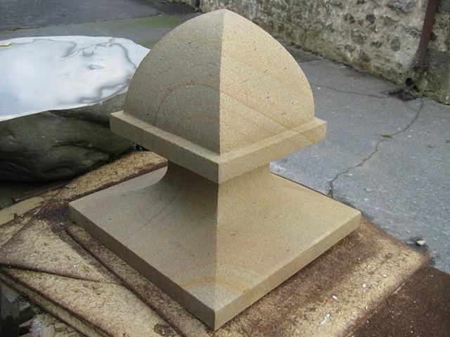 masonry stone sandstone finial carving