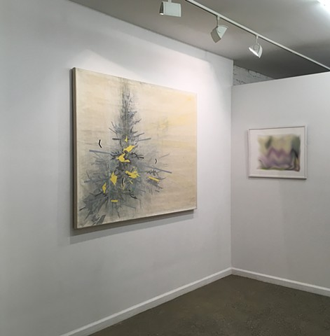 Exhibition view of Cordon Sanitaire at Artists Equity Gallery, NY. December 2018