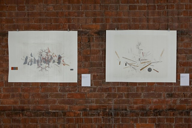 Installation view of the exhibition Break & Heap