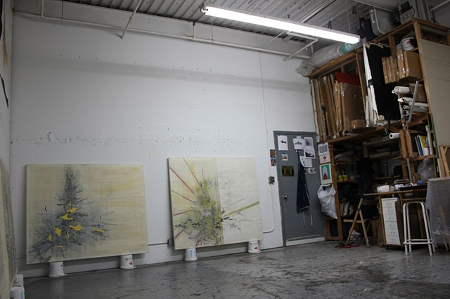 Studio view of: (L) Cordon Sanitaire, (R) Sylvan Agitprop