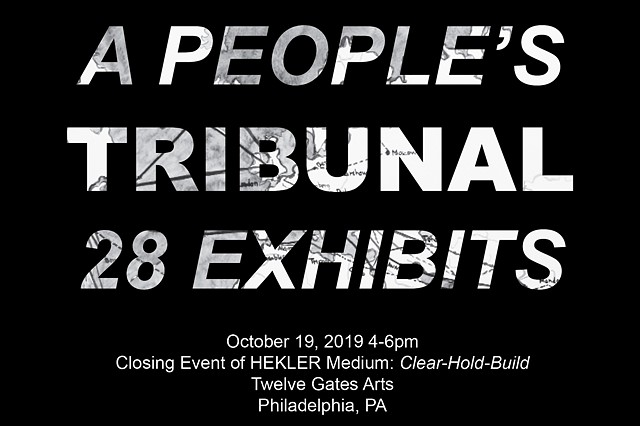 A People's Tribunal: 28 Exhibits