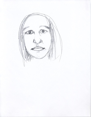 Drawings From Memory - My Sister (not numbered)