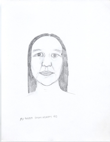 Drawings From Memory - My Sister #10