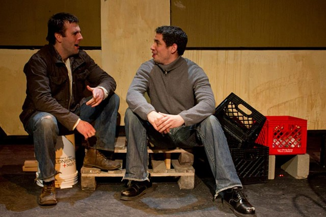 Mickey O'Sullivan and Ryan Hallahan in the production at Cold Basement Dramatics.