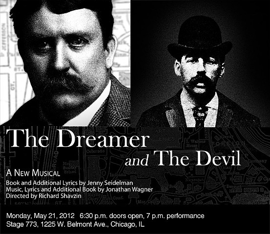 """The Dreamer and the Devil"" poster for May 21, 2012 reading,  by Ivan Lee"