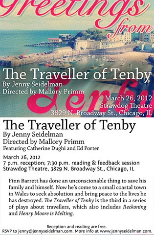 "Postcard for ""The Traveller of Tenby"" reading March 26, 2012, by Ivan Lee."