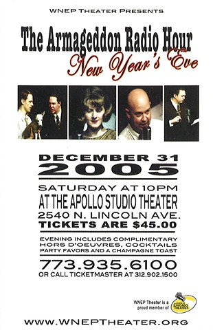 "Postcard for ""Armageddon Radio Hour New Years Eve"" 2005."
