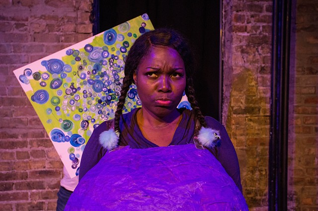 "Gabrielle Lott-Rogers in ""...Because I Love You: A Comedy About Parenting"" at Gorilla Tango. Photo by Tony Duvall."