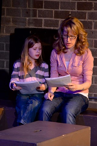 Jessica Hird and Ashlee Grubbs in the reading at The Asylum Theatre.