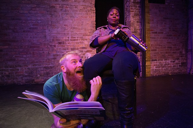 "Jeff Derrico and Gabrielle Lott-Rogers in ""...Because I Love You: A Comedy About Parenting"" at Gorilla Tango. Photo by Tony Duvall."