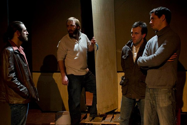 Casey Kells, Brian Rohde, Mickey O'Sullivan and Ryan Hallahan in the production at Cold Basement Dramatics.