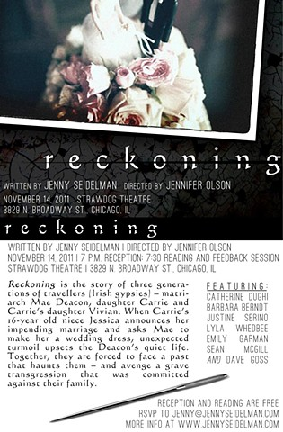 "Postcard for ""Reckoning"" reading November 14, 2011, by Ivan Lee."