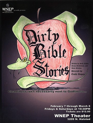 Poster for Dirty Bible Stories by Dave Stinton.