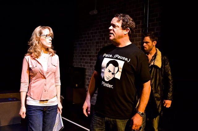 Jessica Hird, Scott McAdam and Jake Taylor in the reading at The Asylum Theatre.