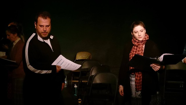 Christopher Carpenter and Jessica Lauren Fisher in the reading at Idle Muse Theatre Company.
