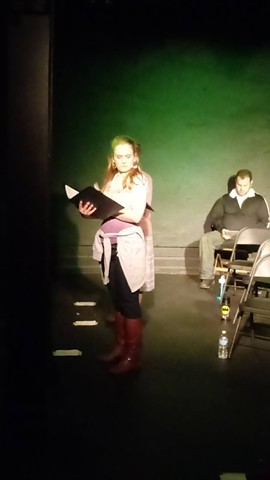 Tamara Bodnar in the reading at Idle Muse Theatre Company.