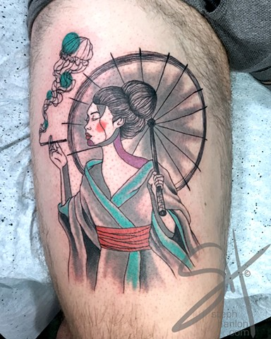 Smoking Geisha