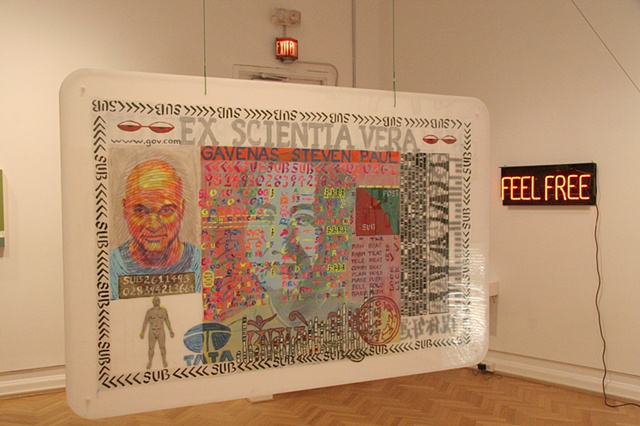 Installation view with Self Portrait as ID Card