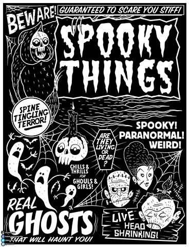 Spooky Things Poster