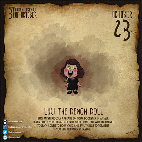 Day 23: Luci The Demon Doll
