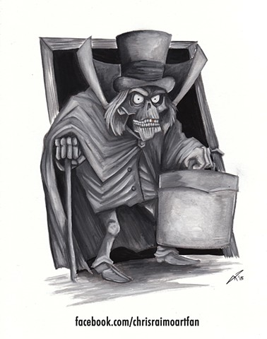 Hat Box Ghost Disney World Disneyland Haunted Mansion Stretching Portrait Art Ghosts 999 Happy Haunts Doombuggies Foolish Mortals