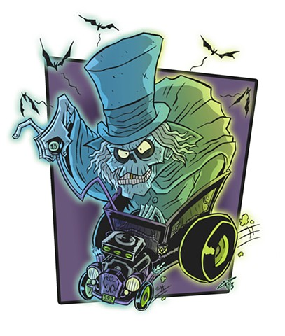 Hat Box Ghost Fink Haunted Mansion Disney Disney World Hat Box Ghost Rat Fink Hot Rods Disneyland