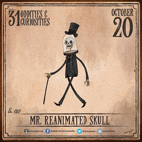 Day 20: Mr. Reanimated Skull