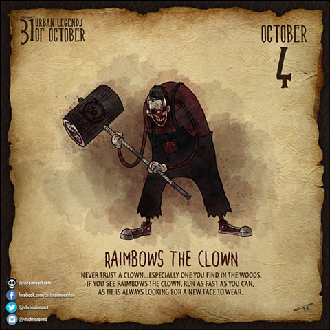 Day 4: Raimbows the Clown