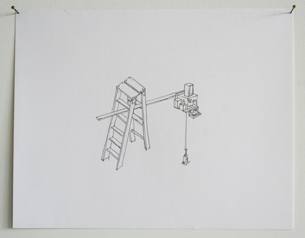 """sharpening station with ladder"""