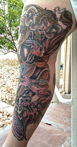 added some color to the Horiyoshi III leg sleeve