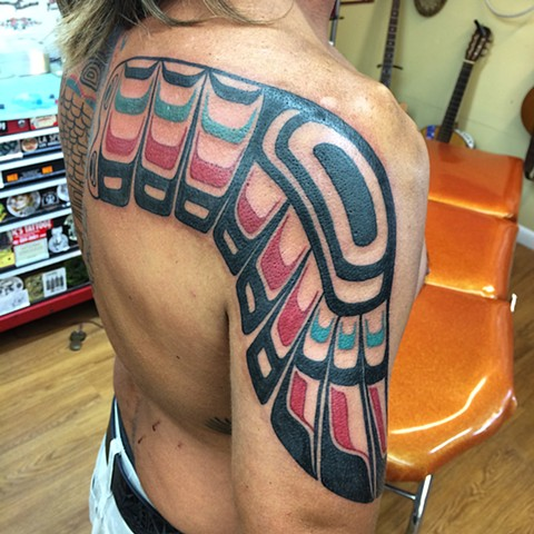 totem pole backpiece in progress