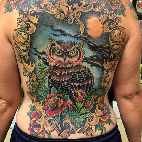 Owl backpiece