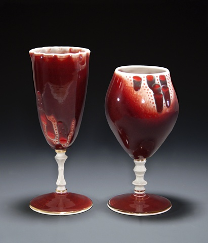 """Red Pattern Goblet"" Pairing"